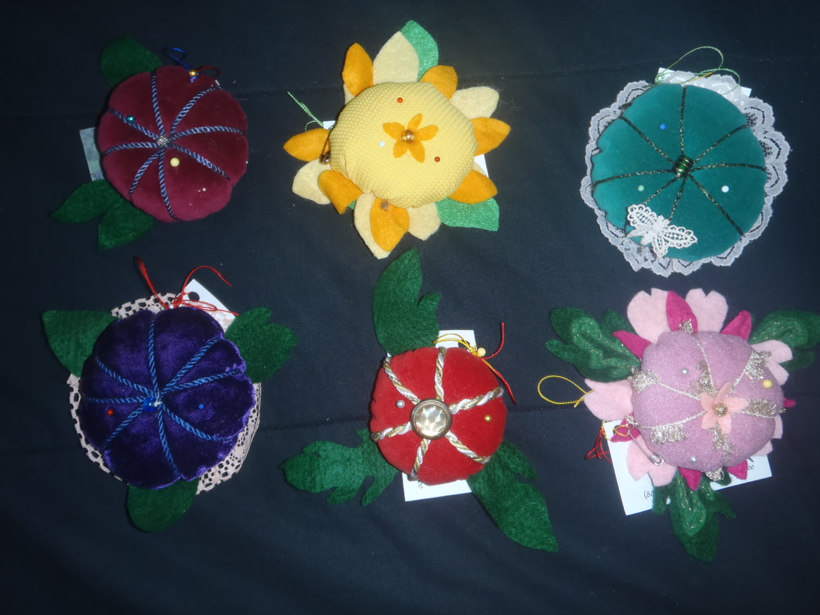 Photo of our hand made pin cushions.