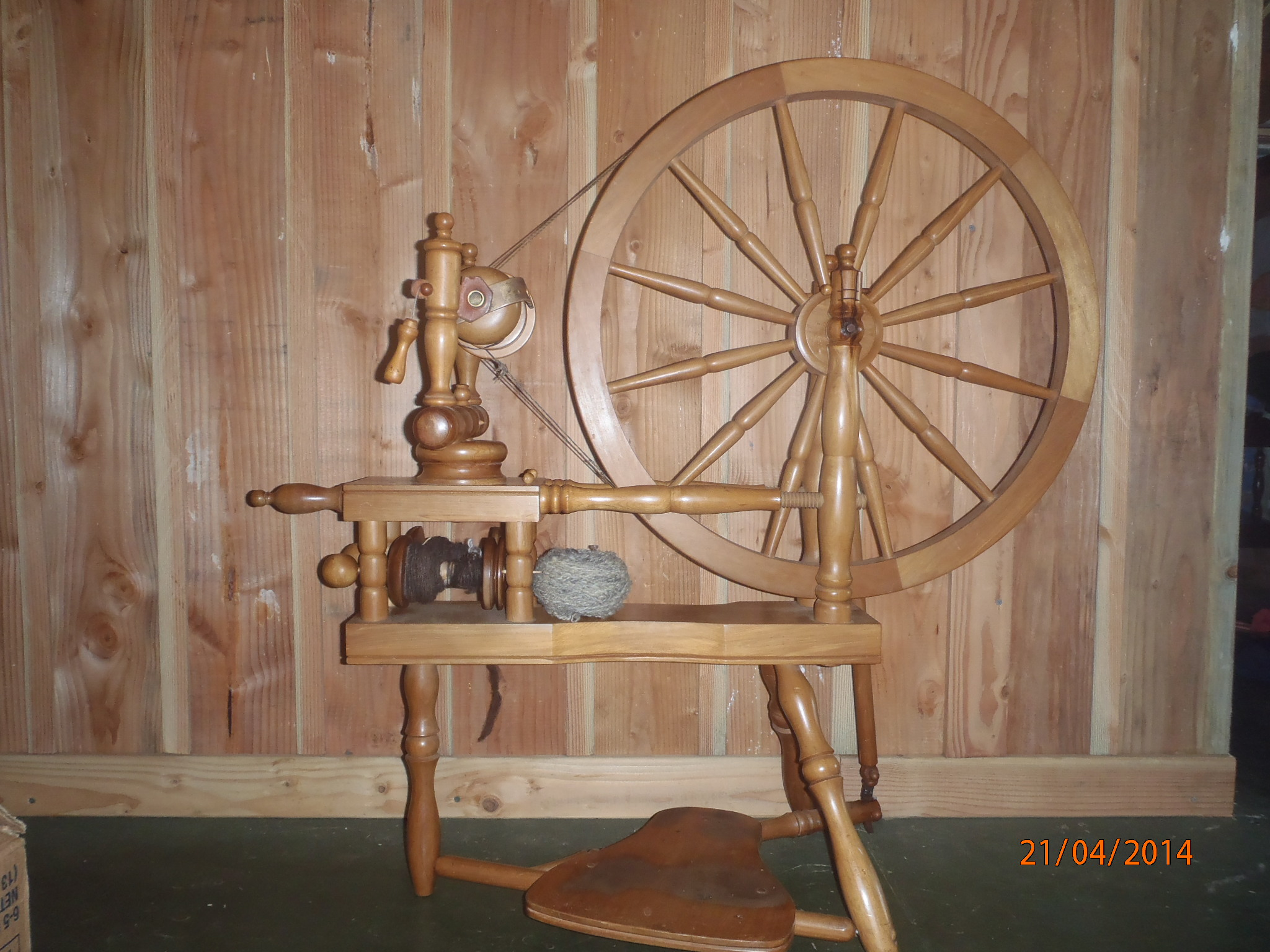 Photo of our spinning wheel.